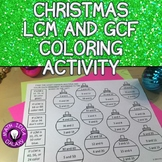 Christmas Math Activity for Greatest Common Factor