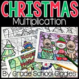 Christmas Multiplication Color By Number