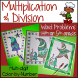 Christmas Math Worksheets Multiplication and Division Color Code