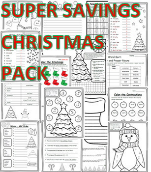 Christmas Grammar Worksheets Christmas Math Worksheets Christmas