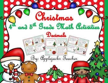 Christmas Math Activities - 4th and 5th Grade - Decimals