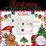 Christmas Math Activities - 5th Grade - Decimals
