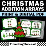 2nd Grade Christmas Math Centers Repeated Arrays and Repeated Addition Cards