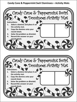 Christmas Math Activities: Candy Cane Dominoes Christmas Game Activity
