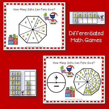 Christmas Math Activities: Christmas Cat Math Center Activities