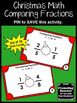 Christmas Math Comparing Fractions Task Cards for 3rd 4th