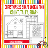 Christmas Math Activities: Count, Tally & Graph 2D Shapes