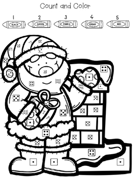 Christmas Math Activities Count and Color