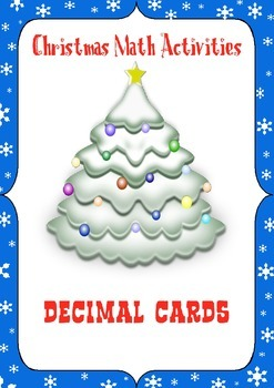 Christmas Math Activities: Decimal Games and Task Cards