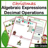 Christmas Math Worksheets 5th Grade
