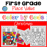 Christmas Math Activities - First Grade Place Value Tens a