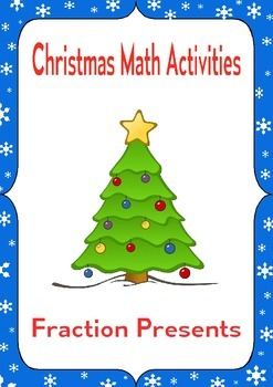Christmas Math Activities: Fraction Sort