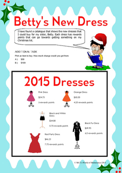 Christmas Math Activities: Fred's Budgeting Activity