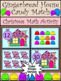 Christmas Math Activities: Gingerbread House Counting Activity - Color Version