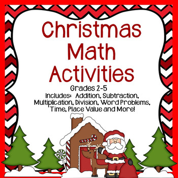 Christmas Math Activities Grades 2-5