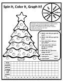 Christmas Graphing Math Spinner Activity Math Christmas Math Center Tree Graph