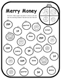 Christmas Math Activities Money Spinner Game Math Christma