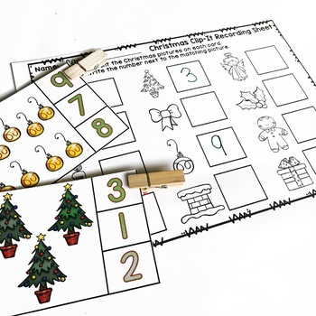 Christmas Math Activities for Numbers 1-10