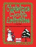 Christmas Math Activities Packet