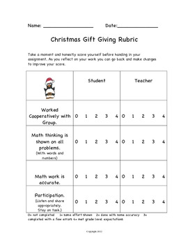 Christmas Math Activities Shopping for Holiday Gifts