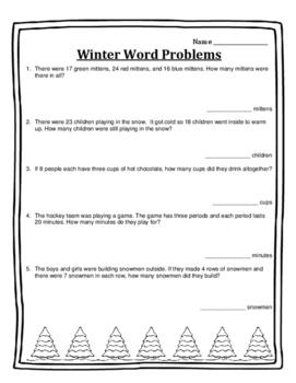 Christmas Math Activities Word Problems Math Activities 2n