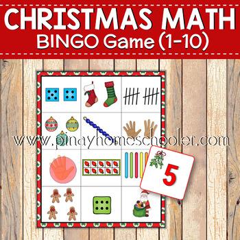Christmas Preschool Math Activities Set 1