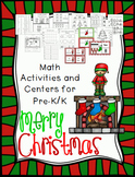 Christmas Math Activities and Centers PreK/K