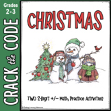 Christmas Math Activity - 2-Digit Addition & Subtraction Crack the Code