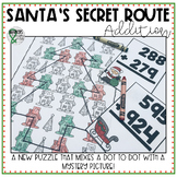 Christmas Math Activity: Addition Mystery Picture/Dot to Dot