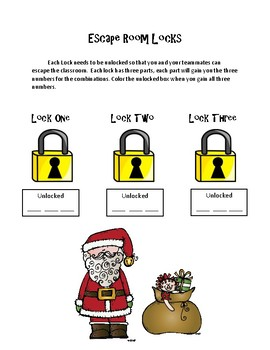 Christmas Math Activity: Addition Regrouping- Escape Room