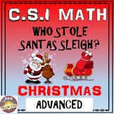 Christmas Math Activity: Advanced Edition. CSI Math- Who Stole Santa's Sleigh?