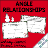 Christmas Math Activity - Angle Relationships