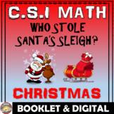 Christmas Math Activity: Christmas CSI Math- Who Stole San