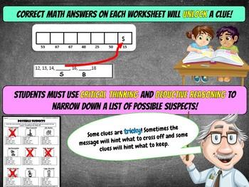 Christmas Math Activity: Christmas Math Mystery -Case of The Selfish Elf GRADE 1