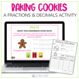 Christmas Math Activity | Fractions and Decimals Cookies F