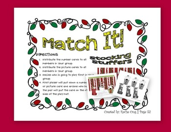 Christmas Math Activity K.CC.4 and K.CC.5