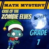 7th Grade Christmas Activity - Christmas Math Mystery Review Worksheets - CSI