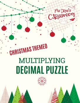 Christmas Math Activity - Multiplying Decimals Game!