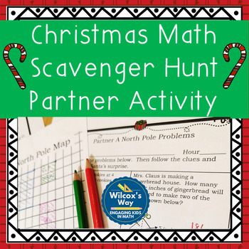 Christmas Math Activity: North Pole Holiday Partner Scavenger Hunt
