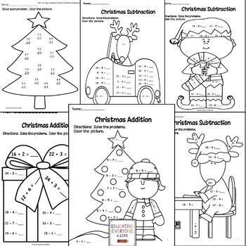 Christmas Math Activity Book