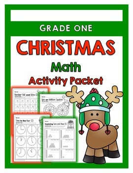 {Grade 1} Christmas Math Activity Packet