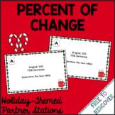 Christmas Math Activity - Percent of Change