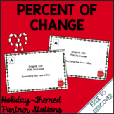 Christmas Math Activity - Percent of Change