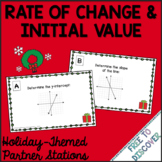 Christmas Math Activity - Rate of Change and Initial Value