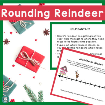 Christmas Math Activity - Rounding Reindeer- 3rd Grade Place Value