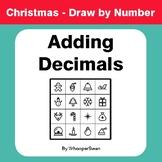 Christmas Math: Adding Decimals - Math & Art - Draw by Number