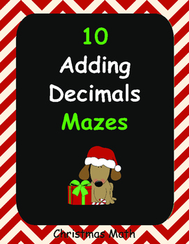Christmas Math: Adding Decimals Maze