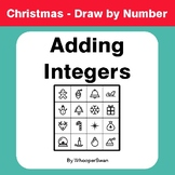 Christmas Math: Adding Integers - Math & Art - Draw by Number