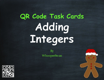 Christmas Math: Adding Integers QR Code Task Cards