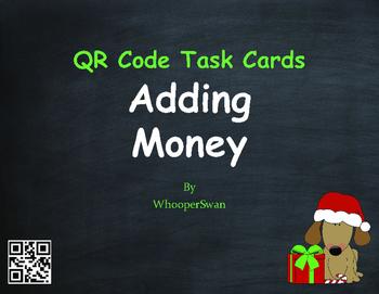 Christmas Math: Adding Money QR Code Task Cards
